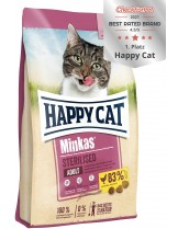 HAPPY CAT - Minkas Sterilised Poultry - Пълноценна храна за кастрирани котки над 12 месеца с пилешко месо - 10 кг.