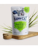 Happy Cat Meat in Sauce Adult Lamb & Liver - неустоим пауч за израстнали котки с агнешко и черен дроб - 85 гр.