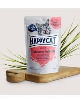 Happy Cat Meat in Sauce Adult Chicken & Salmon - неустоим пауч за израстнали котки с пиле и сьомга - 85 гр.