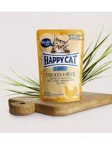 Happy Cat All Meat Adult Chicken & Duck - неустоим пауч за израстнали котки с пиле и патица - 85 гр.