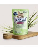 Happy Cat All Meat Adult Sterilised Veal & Lamb - неустоим пауч за израстнали кастрирани котки с говеждо и агне - 85 гр.