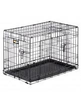 Ferplast - Dog-Inn 75 - сгъваема клетка за кучета 77.4х 48.5х 54.6 см.