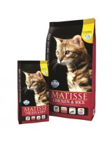Matisse Chichen&Rice 32/11 - балансирана гранулирана  и балансирана храна за котки над 1 година с пиле и ориз- 20 кг
