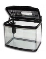 HAILEA оборудван аквариум FA300B с размери 38х25.4х33.5 см., 30 л. - сребърен
