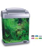 HAILEA оборудван аквариум FC200  с размери 22.5х15.5х29.7 см. - 6.6 л. - сребърен