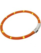 Ferplast - Night over-светещ нашийник - червен и оранжев - 70 см.