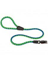 Ferplast -  TWIST MATIC G 12/110 - повод с автоматично заключване за куче - зелено със синьо - Ø 12 мм. x 110 см.