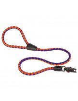 Ferplast -  TWIST MATIC G 12/110 - повод с автоматично заключване за куче - оранжево със синьо - Ø 12 мм. x 110 см.