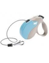 Ferplast - AMIGO MINI CORD BEIGE-BLUE - автоматичен повод за кучета въже - 3 м./ до 12 кг.