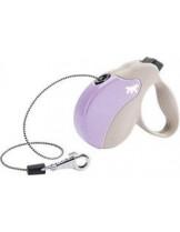 Ferplast - AMIGO MINI CORD BEIGE-VIOLET - автоматичен повод за кучета въже - 3 м./ до 12 кг.