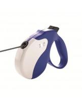 Ferplast - AMIGO L CORD BLUE-WHITE - автоматичен повод за кучета въже - 5 м./ до 50 кг.