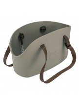 Ferplast With Me Small - винилова водоустойчива транспортна чанта за домашни любимци - 35х14х22 см. (черна, бежова, синя, зелена, розова или тюркоаз)