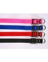 Миазоо - Нашийник от изкуствена лента - червен, син, черен или розош - 10 мм. - 35 см.