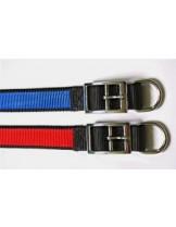 Миазоо - Нашийник от изкуствена лента двуцветен черно/червено или черно/синъо - 15 мм. - 40 см.