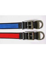 Миазоо - Нашийник от изкуствена лента двуцветен черно/червено или черно/синъо - 25 мм. - 70 см.