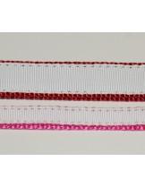 """Миазоо - нашийник за куче """"Sport+"""" от изкуствена, копринена лента - вишнево червен - 10мм/20-35 см."""