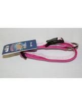 """Миазоо - нашийник за куче """"Sport+"""" от изкуствена, копринена лента - розов - 10мм/20-35 см."""