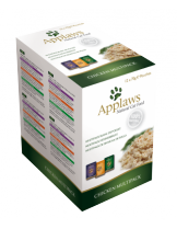 Applaws Chicken in Broth Multipack - 12 бр. високо качествени паучове за котки с пилешко - (4 бр с пиле и див ориз, 4 бр. с пиле и аспержи и 4 бр. с пиле и тиква)