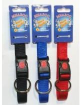 Миазоо - Нашийник Спорт + със заключващ механизъм -ширина - 25 мм. - цвят - червен, син или черен