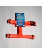 Миазоо - Нагръдник - оранжева лента със светлоотразителни нишки - 25 мм. - 65-100 см.
