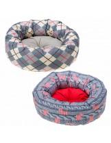 Ferplast - CUSHION TOFFEE 60 - луксозно кръгло легло за  куче или котка от плат - 60 см.