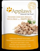 Applaws Chicken with Beef in Jelly - високо качествен пауч за котки с пилешко и говеждо месо в желе - 70 гр.