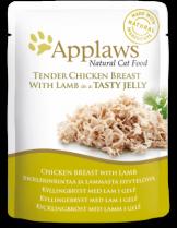 Applaws Chicken with Lamb in Jelly - високо качествен пауч за котки с пилешко и агнешко месо в желе - 70 гр.