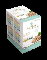 Applaws Mixed Variety in Jelly Multipack - 12 бр. високо качествени паучове за котки - 4 бр. телешко, 4 бр. агнешко, 4 бр. риба тон и 4 бр. скумрия  - 70 гр.