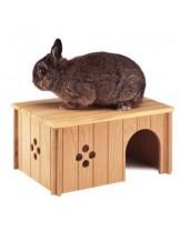 Ferplast - SIN 4647 - дървена къщичка за декоративни зайчета и други гризачи