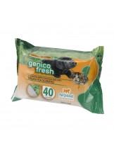 Ferplast - GENICO FRESH dog/cat green tea (x 40) - почистващи кърпички за кучета и котки с аромат на зелен чай 40 бр. в пакет - 30x20 см.