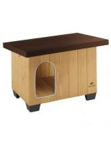 Ferplast Baita 60 Wooden kennel - дървена къща за куче - с размери - 73,5 x 59 x h 52,5 см