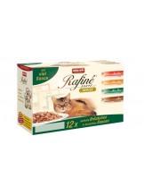Rafine  - Паучове за израснали котки - различни вкусове - 12 броя в кутия