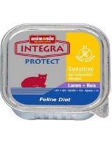 INTEGRA Sensetive - високо качествен пастет за котки с чувствителен стомах с агнешко и ориз - 100 гр.