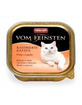 Von Feinsten Castrated - пастет за кастритрани котки над 12 месеца с - пуйка + сьомга - 100 гр.