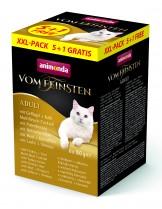 Animonda Vom Feinsten XXl 5+1 - неустоими пастети за възрастни котки - 6 вкуса - 5+1 по 100 гр.