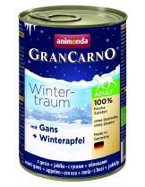 Gran Carno Winter traum Adult - Gans + Winterapfel - Високо качествени консерва за кучета над 1 година От Animonda Германия с патешко месо и ябълки - 0.400 кг.