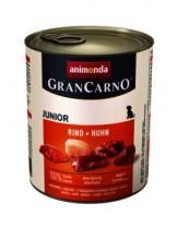 GranCarno® Junior - високо качествена храна за подрастващи кученца с пиле и телешко - 400 гр.