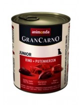 Gran Carno Original Junior - Rind + Putenherzen- високо качествена храна за подрастващи кученца От Animonda Германия с говеждо и сърца - 0.800 кг.