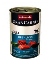 Gran Carno Original Adult Rind + Lachs + Spinat - Високо качествени консерва за кучета над 1 год. От Animonda Германия с морска треска + спанак - 0.400 кг.