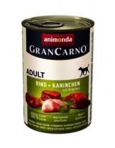 Gran Carno Original Adult - Високо качествени консерва за кучета над 1 год. От Animonda Германия със заек + билки - 0.400 кг.
