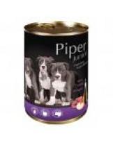 Piper Junior - Премиум консервирана храна за малки кученца до 1 година с телешко и ябълки - 400 гр.
