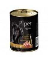 Piper - Премиум консервирана храна за кучета с апилешки сърца и кафяв ориз - 400 гр.