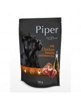 Piper - Премиум консервирана храна за кучета - пауч пилешки сърца и кафяв ориз - 150 гр.