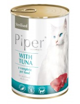 Piper Cat Tuna Grain free - супер премиум храна за котки над 1 година с риба тон -  45% месо и месни продукти и 10% риба тон - 400 гр. - (без зърно)