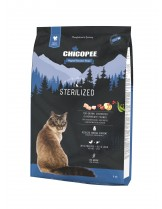 Chicopee Holistic Nature Line No Grain Sterilized - за кастрирани котки над 1 година без зърно - с пилешко месо и дроб  - 8 кг.