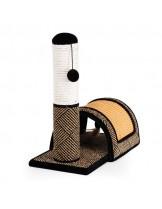 CAMON -Драскалка за котка - Пилон с мост + топка с вълна и размери - 46x24x46 см.