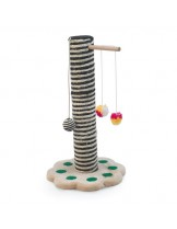 CAMON -Драскалка за котка - Пилон + топка с вълна и размери - 52 см.