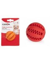 Camon Dental Fun Baseball - Играчка за куче - дентална гумена топка - 5 см.