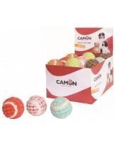 Camon - Играчка за куче - Цветна тенис топка, покрита с плат - 6.2 см.