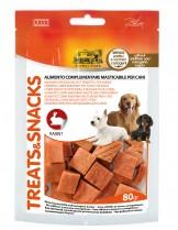 Camon Treats&Snacks - Лакомство за куче - Меки хапки в формата на кубчета с заешко месо - 80 гр.